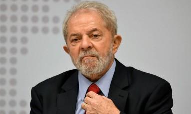O ex-presidente Luiz Inácio Lula da Silva, durante seminário promovido pelo PT em Brasília Foto: Evaristo Sá / AFP/24-04-2017