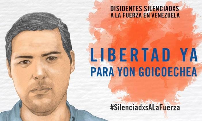 Yon Goicoechea foi detido por supostamente portar explosivos Foto: Anistia Internacional