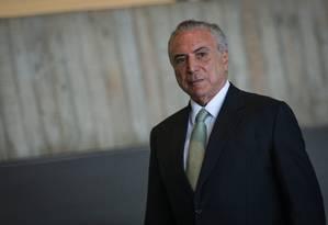 O Presidente Michel Temer Foto: André Coelho / Agência O Globo
