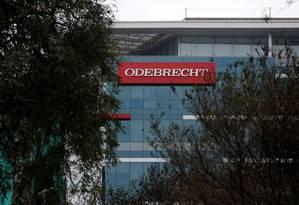 Logo da Odebrecht Foto: Janine Costa / Reuters