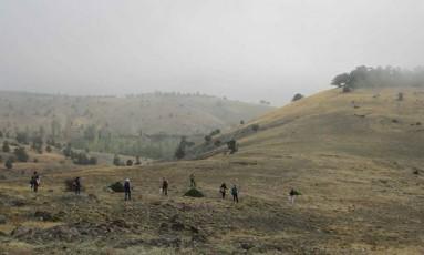 Região onde os restos da casa foram encontrados Foto: Divulgação