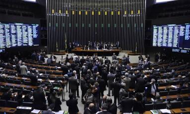 O plenário da Câmara dos Deputados Foto: Gilmar Felix / Agência Câmara