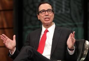 Secretário de Tesouro dos Estados Unidos, Steven Mnuchin. Chip Somodevilla/Getty Images/AFP