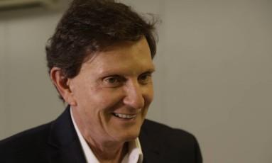 """Crivella: Nada de pessoal """"contra o simpático prefeito do 'canguru perneta'"""" Foto: Gabriel de Paiva / Agência O Globo"""