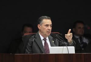 Ministro Luís Roberto Barroso durante sessão da 1ª turma do STF Foto: Carlos Moura/SCO/STF