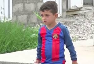 Messi e sua família foram sequestrados pelo grupo jihadistas, que o forçou a se chamar Hassan Foto: Reprodução vídeo