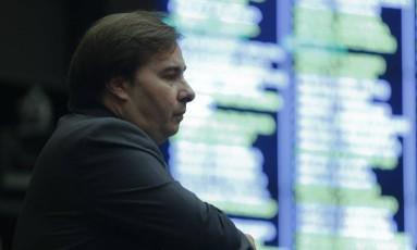 Rodrigo Maia, presidente da Câmara dos Deputados, em reunião para apreciar reforma trabalhista. Foto Aílton de Freitas/Agência O Globo