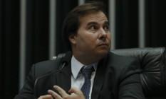 Câmara dos Deputados reunida para apreciar reforma trabalhista. Na foto, Rodrigo Maia. Foto: Ailton Freitas / Agência O Globo