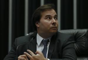 O presidente da Câmara, Rodrigo Maia Foto: Ailton Freitas / Agência O Globo
