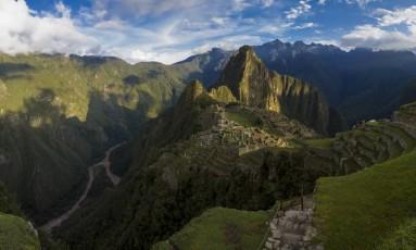 Vista do Machu Picchu, no Peru Foto: Daniel Marenco / Agência O Globo