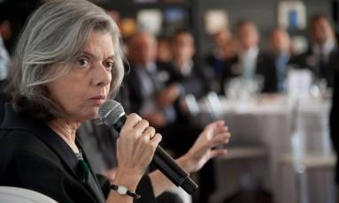 A ministra Cármen Lúcia é relatora de uma ação apresentada no STF que reivindica a liberação do aborto Foto: Adriana Lorete/17-3-2017