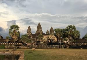 Angkor Wat. No complexo, a imponência da antiga capital do Império Khmer Foto: Vivian Oswald