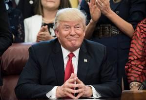 O presidente americano, Donald Trump Foto: BRENDAN SMIALOWSKI / AFP