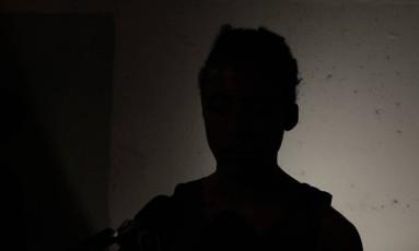 Amigo de Felipe, que pediu para não ser identificado, narrou os momentos de horror ao ver a vítima baleada Foto: Pedro Teixeira / Agência O Globo