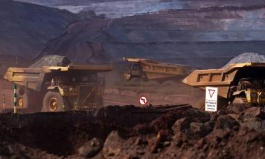Mina de minério de ferro da Vale de Brucutu, em Barão dos Cocais, Minas Gerais. Dado Galdieri/Bloomberg