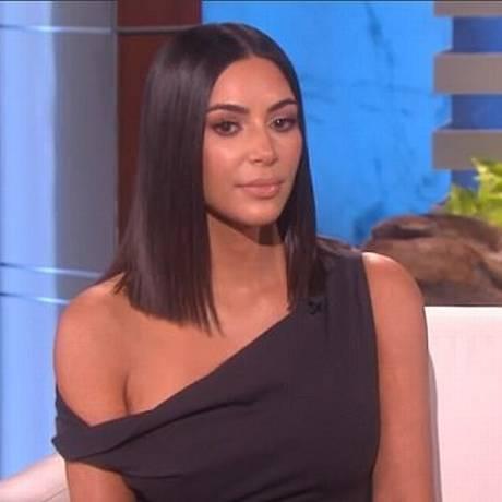 "Kim Kardashian no ""The Ellen DeGeneres Show"" Foto: Divulgação / Ellen DeGeneres"