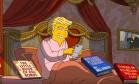 Cena de curta dos Simpsons ironizando os primeiros 100 dias do governo Trump Foto: Reprodução