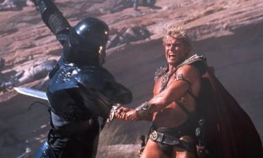 Dolph Lundgren como He-Man em 'Mestres do Universo', de 1987 Foto: Reprodução