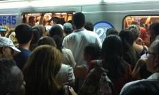 Estação República do metrô de São Paulo em horário de pico Foto: Divulgação / Walter Ietto/ arquivo pessoal