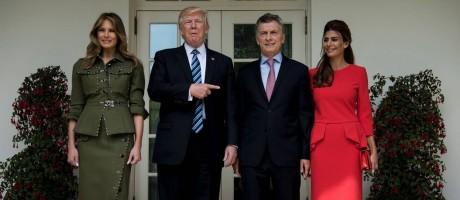 Durante encontro, Trump fez vários elogios a Mauricio Macri Foto: BRENDAN SMIALOWSKI / AFP