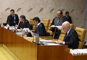 Ministros do Supremo Tribunal Federal (STF) Foto: Jorge William / Agência O Globo 20/-4/2017