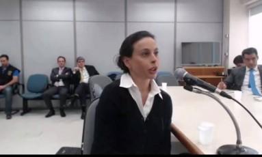 Em depoimento a Moro, Adriana Ancelmo nega ter pago gastos pessoais de luxo com propina Foto: Reprodução Vídeo