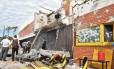 Sede da Prosegur foi atacada, em Ciudad del Este Foto: GUSTAVO GALEANO / AFP/24-04-2017