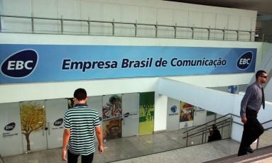 Entrada da sede da Empresa Brasil de Comunicação (EBC), em Brasília Foto: Givaldo Barbosa/Agência O Globo/04-04-2012