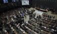 Câmara dos Deputados reunida para apreciar reforma trabalhista Foto: Ailton Freitas / Agência O Globo