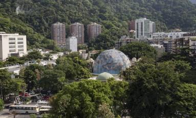 Terreno onde fica o Planetário da Gávea ocupa área de 10,4 mil metros quadrados Foto: Ana Branco / Agência O Globo
