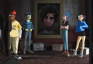 O grupo virtual Gorillaz Foto: Divulgação