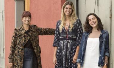 Elas entendem de millennials: da esquerda para direita, Marianna Arnizaut, da Fiever; Taciana Abreu, da Farm; e Francesca Leta, da Loja Três Foto: Ana Branco / Agência O Globo
