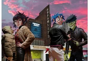 Gorillaz: grupo de música com personagens de desenho animado Foto: J C. Hewlett / Divulgação