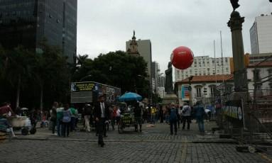 Funcionários públicos fazem manifestação no Centro Foto: Divulgação