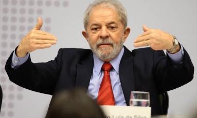 O ex-presidente Luiz Inácio Lula da Silva Foto: Jorge William/Agência O Globo