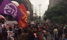 Manifestantes na Avenida Paulista Foto: Reprodução/G1