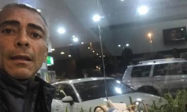 Romário faz graça com postagem rem rede social Foto: Reprodução