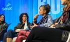 Da esquerda para direita: Adriana Gryner (Tem quem queira), Eleonora Alves (DeninLab), Gabriella Corte Real (Estúdio Ripa) e Gabriela Masepa (Re-roupa) Foto: Brenno Carvalho / Agência O Globo