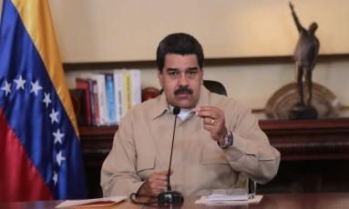 O governo do presidente venezuelano, Nicolás Maduro, considera a OEA como um braço da política hostil dos Estados Unidos Foto: PRESIDENCIA / AFP