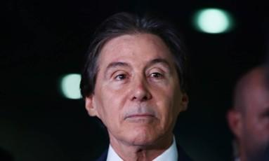 O presidente do senado estava internado desde quarta-feira, quando desmaiou Foto: Givaldo Barbosa / Agência O Globo