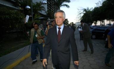 Depoimento do sócio de Marcos Valério nas agência DNA e SMP&B, Ramon Hollerbach, na Polícia Federal Foto: Daniel de Cerqueira / Agência O Globo