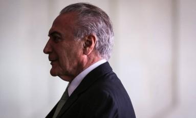 O presidente Michel Temer no Palácio Itamaraty. Foto: André Coelho/Agência O Globo