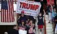 Apoiadores de Donald Trump em comício na Pensilvânia Foto: ALEX WONG / AFP