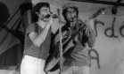 Fagner e Belchior juntos em 1982 Foto: Athayde dos Santos / Arquivo