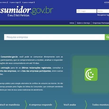 Governador.gov: ferramenta auxilia na renegociação de dívidas Foto: Reprodução