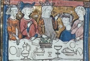Refeição na Idade Média: restrições alimentares impostas pela Igreja contribuíram para consumo de galinhas Foto: Reprodução