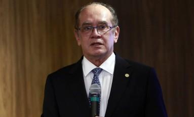 Gilmar Mendes, ministro do STF, votou a favor da libertação de José Dirceu Foto: Edilson Dantas / Agência O Globo
