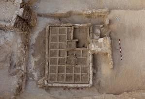 Restos de pequeno jardim de mais de 4 mil anos encontrados no Sul do Egito Foto: HO / AFP