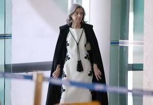 Ministra Cármen Lúcia preside sessão do Supremo Tribunal Federal (STF) Foto: Jorge William / O Globo - 20/04/2017