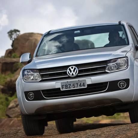 A picape Amarok, da VW Foto: Divulgação